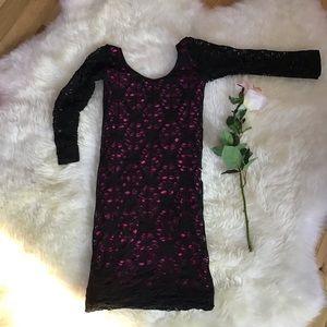 Stretch netted black dress, size m/l